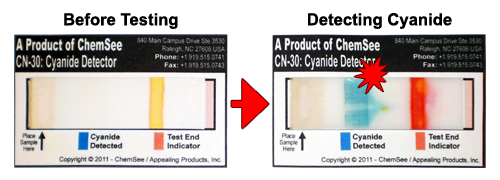 Cyanide Detector - Before and After Testing
